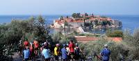 Enjoying the views of Budva on our Montenegro Cycle
