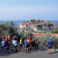 Enjoying the views of Budva on our Montenegro Cycle