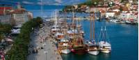 The harbour at Trogir, starting point for many of our Croatian boat based trips