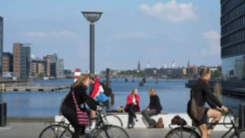 Cyclists in Copenhaven