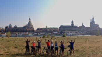 Finish your week-long cycling trip in the majestic city of Dresden