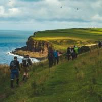 Beginning the Coast to Coast walk along the green cliffs of England   Tim Charody