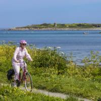 Cycling on Guernsey's west coast   Chris George