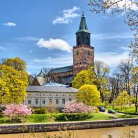 The Turku Cathedral by the Aurajoki river | Timo Oksanen