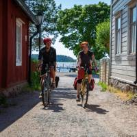 Tammisaari (or Ekenäs) is one of a number of typical towns visited on the Finland Coastal Route Cycle