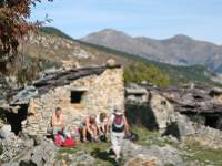 Hikers in the Roya Valley, Provence