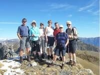 Group on the Alps to Mediterranean walk