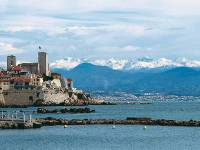The old town of Antibes with the Maritime Alps in the background |  <i>Kate Baker</i>