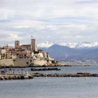 View to the Maritime Alps and Nice from Antibes   Kate Baker