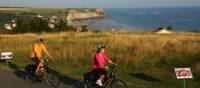 Cycling near the D-Day beaches in Normandy