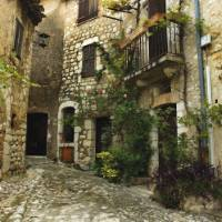 Typical Backstreet of a village in provence