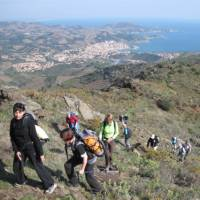 Hiking high above the Mediterranean coastline on our Footsteps of Dali tour