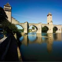 The Pont Valentre over the Lot River in Cahors