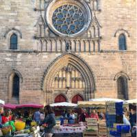 Cahors Market place next to the cathedral   Jaclyn Lofts