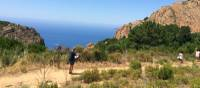 Hikers on the trail between Piana and Porto | Kate Baker