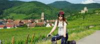 Cycling through vineyards and quaint villages in Alsace