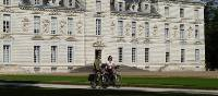 Cycling at Cheverny chateau