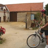 Cyclist Loire Valley France   Kate Baker