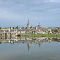 The ancient Roman town Charité-sur-Loire, with view of the church Sainte-Croix-Notre-Dame | Tanya & Rick McDonald