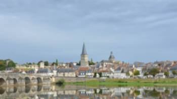 The ancient Roman town Charité-sur-Loire, with view of the church Sainte-Croix-Notre-Dame | Tanya & Rick McDonald