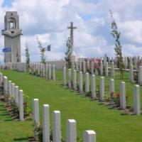 Villers Bretonneux cemetery outside of Fouilloy in the Somme region