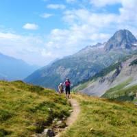 Coming up to Col de Balme on the Tour de Mont Blanc   Bren Dorman