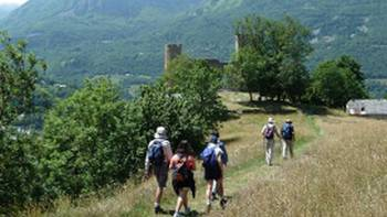 Heading towards the Chateau in Luz-St-Sauveur