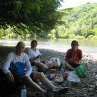 Lunch on the Dordogne, France   Tony Henshaw