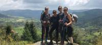 Very happy Camino walkers in France |  <i>Allie Peden</i>