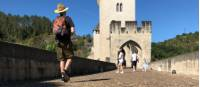 Pilgrim on the bridge in Cahors |  <i>Jaclyn Lofts</i>