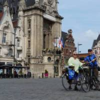 Cyclists in Bethune in the Flanders region of France   Richard Tulloch