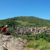 Enjoying the view of Conques