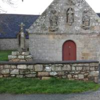 Stone carved building in Brittany
