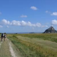 Walking towards Mont Saint Michel