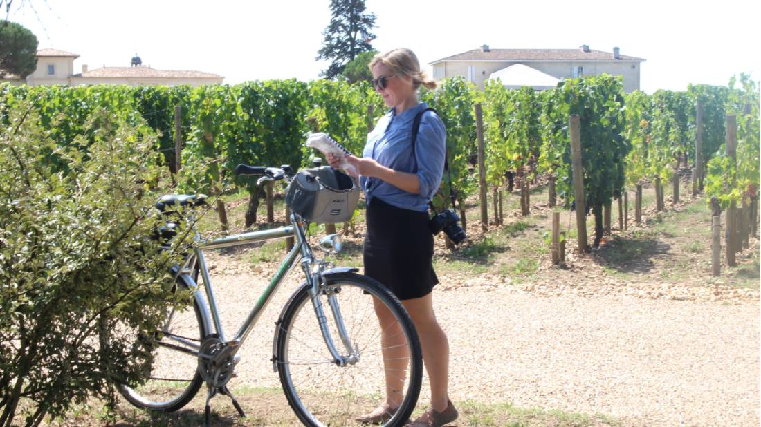 Map reading in the vines in Bordeaux |  <i>Jaclyn Lofts</i>