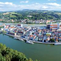 Passau in the southeast of Germany is located at the Austrian border at the confluence of the Danube, Inn and Ilz rivers.