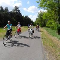 Cyclists enjoying the flat roads during our Berlin Bike & Barge trip