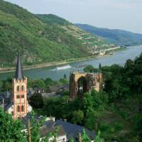 View of the Middle Rhine Valley