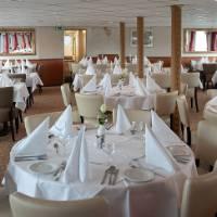 Dining room with panoramic windows on the MS Princess