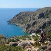 Descending to Lissos Beach in Crete   Jaclyn Lofts