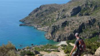 Descending to Lissos Beach in Crete | Jaclyn Lofts