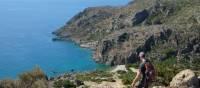 Descending to Lissos Beach in Crete | Jaclyn Lofts