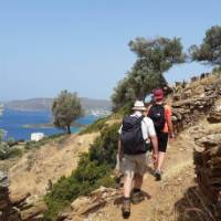 Walking from Batsi to Gavrio on the Andros Trail