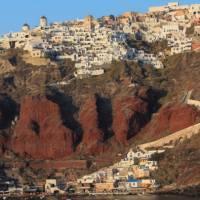 Sunset falls on the village of Oia on the Greek Island of Santorini | Brad Atwal