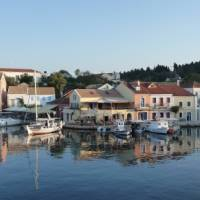The town of Fiskardo on the Ionian island of Cephalonia, Greece