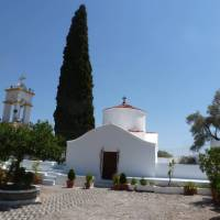 The iconic white buildings of Greece on the Rhodes and Lycian Coast Cycle