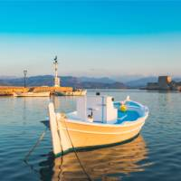 The seaport town of Nafplio in the Peloponnese