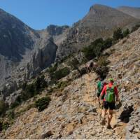 On the trail to the summit of Mt Gingilos in Crete   Jaclyn Lofts