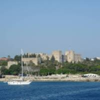 Approaching the idyllic Rhodes in Greece