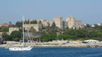 Approaching the idyllic Rhodes in Greece